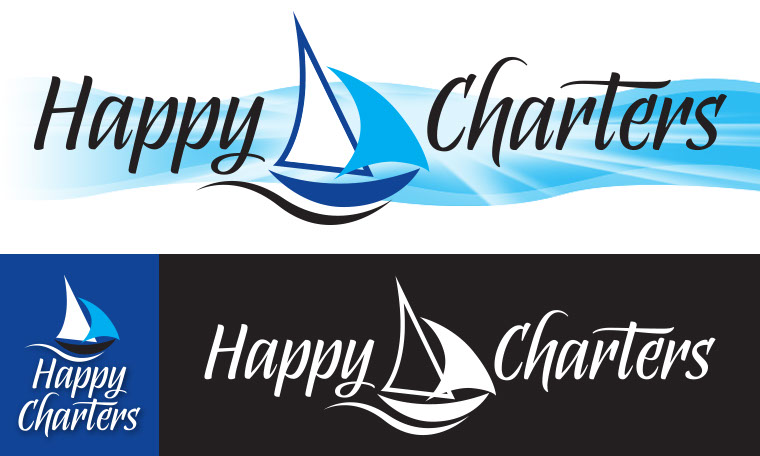 The logo and branding for Happy Charters.