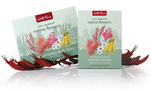 Design and photography for Native Flowers brochure. Packaging and graphics by Dianne Michels.